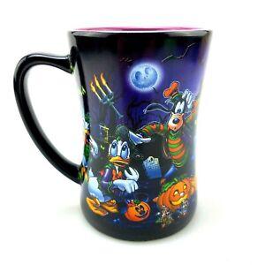 Disney Parks Halloween Haunted Mansion Coffee Mug   Mickey Minnie Donald Goofy