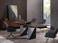 """Whiteline Jack Extendable Dining Table in Black (DT1635E-W71""""/102"""" D35"""" H30"""")"""