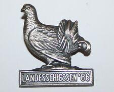 Aguja, landesschiessen disparen 1986 reclamos caza cazadores insignia #a262