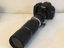 Canon EOS fit Soligor 400mm f6.3 Telephoto Lens  , Takes T2 mounts Ideal Digi Fi