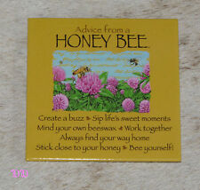 """LEANIN TREE """"Advice From A Honey Bee"""" #26435 Magnet~Stick Close to Your Honey~"""