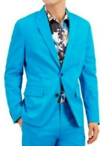 INC Mens Blazer Turq Blue Size Small S Slim Fit Oliver Two-Button $129 #013
