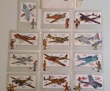 12 CHROMOS TINTIN VOIR ET SAVOIR AVIATION GUERRE 1939-1945 SÉRIE 1 ET 2