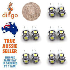 10 WHITE T10 194 168 SMD 5050 LED Car Wedge Tail Side Parking Light Globe 12V