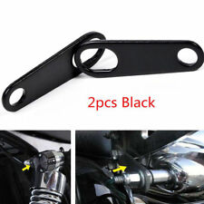 2x Motorcycle Black Relocation Rear Turn Signal Light Bracket Holder Universal