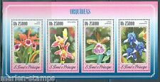 SAO TOME   2015 ORCHIDS  SHEET   MINT NH