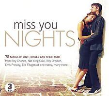 MISS YOU NIGHTS Bobby Vee, Mary Wells, Elvis Presley, Tony Orlando 3 CD NEU