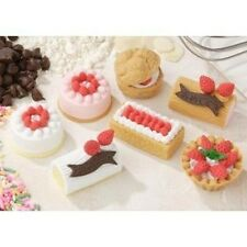 7 pieces Iwako erasers - Cake Pastry (Color May Vary)  S-3569 AU