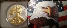 2019 24k Gilded American Silver Eagle Edition 1 Oz One Dollar $1 W.Liberty Coin