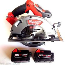 "New Milwaukee 2731-20 18V 7 1/4"" Circular Saw, (2) 48-11-1850 5.0 Batteries M18"