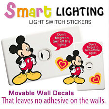 Mickey Mouse Light Switch Reusable Wall Sticker Decal Save Power