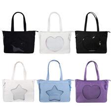 Transparent Lolita Handbag Woman's Itabag Satchel Zip Shoulders Bag School Bags