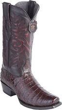 Men's Los Altos Genuine Caiman Belly Western Boots 7X Square Toe Medium Width