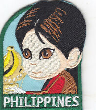 """PHILIPPINES"" PATCH - NATIONS, COUNTRIES-REGIONS-Iron On Embroidered  Patch"