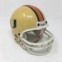 University of Miami Hurricanes Riddell Mini Football Helmet 3 5/8