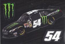 Kyle Bush Car #54 MONSTER ENERGY (3) Piece NASCAR Auto Window Decal / Sticker.