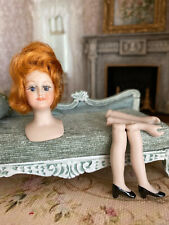 Vintage Miniature Dollhouse Artisan Red Head Porcelain Doll Kit & Instructions
