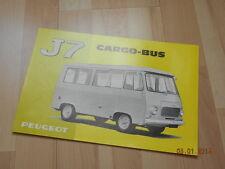 catalogue PEUGEOT J7 cargo - bus 1968