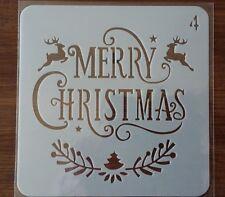 MERRY CHRISTMAS STENCIL 130mm x 130mm