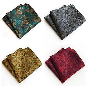 Gold Pocket Square Handerchief Silver Black Red Green Purple Blue Pink