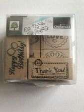 Wooden Rubber Stamp Set Greetings Birthday Card Making
