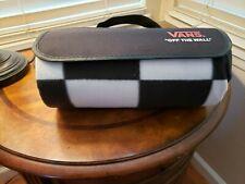 VANS Rolled Checkered Travel Picnic Fleece Blanket Black White