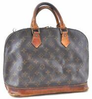 Authentic Louis Vuitton Monogram Alma Hand Bag M51130 Junk LV B8101