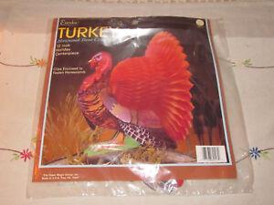 Eureka Turkey Honeycomb Tissue 12 Inch Holiday Centerpiece Decoration