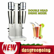 Commercial Milk Shake Machine Stainless Steel Double Head Drink Mixer 110v 360w