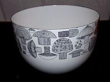 "Vintage Kaj Franck Arabia Finel Mid Century Enamel 8 1/4"" Mushroom Bowl"