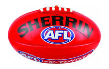 Sherrin AFL Replica Game Football, Size 5 - Red