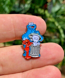 Sesame Street x Kaws Trash Can Lapel Pin