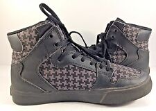 Supra Checkered High Top Lace Up Leather & Synthetic Fashion Sneaker Womens 6,5M