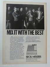 retro magazine advert 1981 SECK MIXERS / UB40