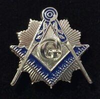 Freemason Lapel Pin in Silver Tone