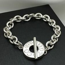 Tiffany & Co Sterling Silver T&CO 1837 Circle Toggle Bracelet