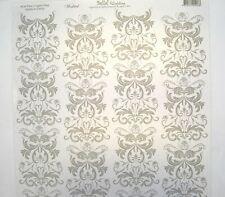 Bella! Wedding - Wedded - 12x12 Scrapbook Paper - Silver Flourish x2 Sheets