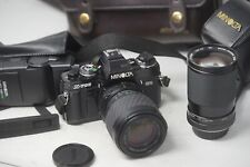 Minolta X-700 SLR 35mm Film Camera Vivitar 28-85mm & Sigma 70-210mm Lenses