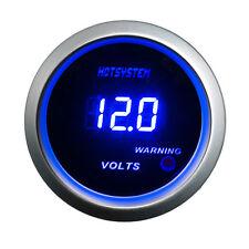 """CAR Vehicle 2"""" 52mm BLUE DIGITAL LED 0-15 V VOLT VOLTAGE METER GAUGE AU"""