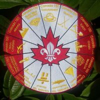 Scouts Canada, 150 Canada Birthday Blanket Badge.  (World Scout Jamboree, Moot)