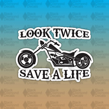 1X Look Twice Save A Life Decals Stickers Graphic 5.5x6.9 Parts Fairings Fallen