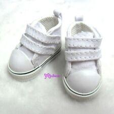 Yo-SD bjd Doll Shoes 2 Strap Denim Boots WHITE (for Foot 4.5cm long)