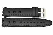19MM BLACK SILICONE RUBBER WATCH BAND STRAP FITS SWATCH S541