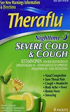Theraflu Nighttime Severe Cold & Cough Honey Lemon 6 Packets Each