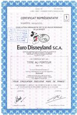 Stock Certificate of Euro Disneyland