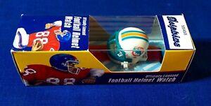 NOS RARE MIAMI DOLPHINS Football Helmet Watch Fremark #FH-28 NFL Licensed NIB