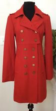 NWT Walter Women's Red Military Twill Wool Blend Coat Jacket Sz 8 MSRP $378