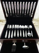 Silver Sculpture by Reed & Barton Sterling Silver Flatware Service Set 62 Pcs