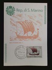 SAN MARINO MK 1963 SCHIFFE VICKING WICKINGER MAXIMUMKARTE MAXIMUM CARD MC c8519