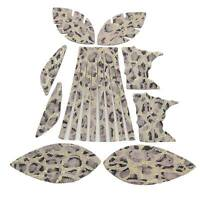 Leather Earrings Various Circle Sizes or Rectangle 12pk Snowdrop Gold Leopard DIY